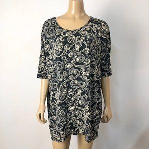 Lularoe women's swirl pattern Irma tunic top